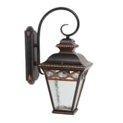 Yosemite Home Decor uncheck Steel & Glass Creek 1 Light Wall Lantern, 18 Watts