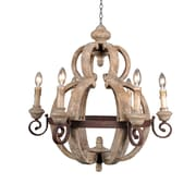 "Yosemite Home Decor 29.92"" x 27.16"" Wood & Iron Light Chandelier"