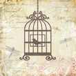 Yosemite Home Decor Postage Stamp Linen Print Artwork, Caged Whimsy II