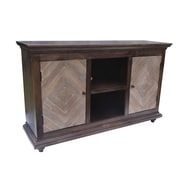 Yosemite Home Decor Open Space Wood & Metal Media Cabinet
