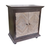 Yosemite Home Decor Space Media Cabinet Wood & Metal 2 Door Cabinet