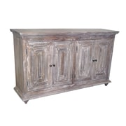 Yosemite Home Decor Wood & Metal 4 Door Sideboard