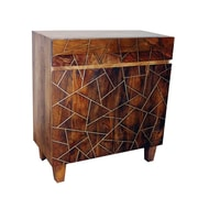 Yosemite Home Decor Metal Inlay Wood & Metal