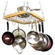 Cooks Standard Wood Ceiling Pot Rack Set