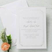 Gartner Studios Invitation & Envelope, Formal Silver Border