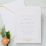 Gartner Studios Invitation & Envelope, Gold Foil Filagree