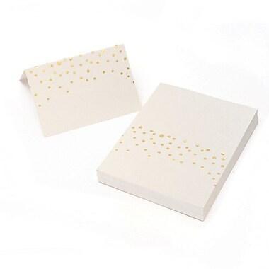 gartner studios gold foil dots place cards 50 pack staplesÂ