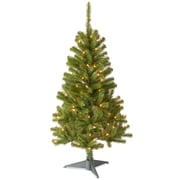 National Tree Co. Canadian Fir 4' Green Wrapped Artificial Christmas Tree w/ 100 Clear Lights