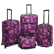 U.S. Traveler Fashion 4 Piece Spinner Luggage Set I; Purple