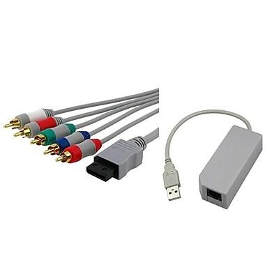 Insten® 242133 2-Piece Game Adapter Bundle For Nintendo Wii/Wii U
