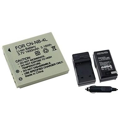Insten® 249142 2-Piece DV Battery Bundle For PowerShot SD630/SD750/Canon NB-4L