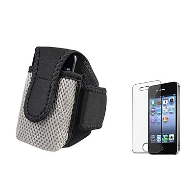 Insten 288486 2-Piece iPhone Armband Bundle For Apple iPhone 4\/4S\/MP3\/Cell Phones