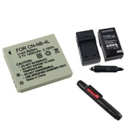 Insten® 313974 3-Piece DV Battery Bundle For PowerShot SD630/SD750/Canon NB-4L