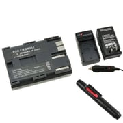 Insten® 313979 3-Piece DV Battery Bundle For Canon BP-511
