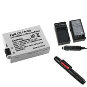 Insten® 313997 3-Piece DV Battery Bundle For EOS Rebel T2i/Canon LP-E8