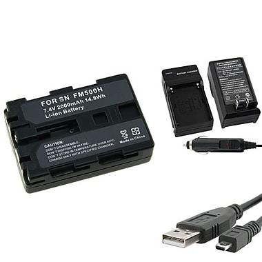 Insten® 314736 3-Piece DV Battery Bundle For Sony NP-FM500H/Alpha A850/NP-FM30/NP-FM50