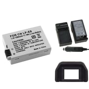 Insten® 314907 3-Piece DV Battery Bundle For EOS Rebel T2i/Canon LP-E8