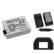 Insten® 314908 4-Piece DV Battery Bundle For EOS Rebel T2i/Canon LP-E8