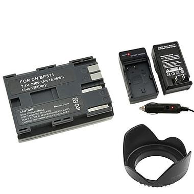 Insten® 314913 4-Piece DV Battery Bundle For Canon BP-511/58 mm Lens/Filters