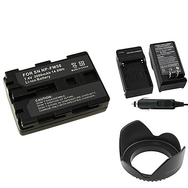 Insten® 314931 3-Piece DV Battery Bundle For Sony NP-FM50/NP-FM30/Sony NP-FM500H/58mm Lens/Filters