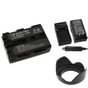 Insten® 314931 3-Piece DV Battery Bundle For Sony NP-FM50/NP-FM30/Sony NP-FM500H/58mm Lens/Filters