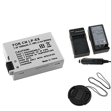 Insten® 314981 3-Piece DV Battery Bundle For EOS Rebel T2i/Canon LP-E8