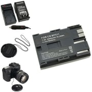 Insten® 314986 4-Piece DV Battery Bundle For Canon BP-511/Canon BP-511/58 mm Filters/Adapters/Lens
