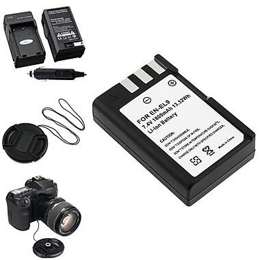 Insten® 314991 4-Piece DV Battery Bundle For D40/D40x/Nikon EN-EL9/58 mm Filters/Adapters/Lens