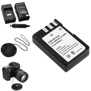 Insten® 314991 4-Piece DV Battery Bundle For D40/D40x/Nikon EN-EL9/58 mm Filters/Adapters/Lens