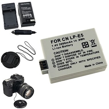 Insten® 314997 5-Piece DV Battery Bundle For EOS Rebel Xsi/Canon LP-E5