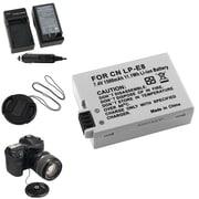 Insten® 315018 4-Piece DV Battery Bundle For EOS Rebel T2i/Canon LP-E8