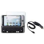 Insten® 317576 2-Piece Car Charger Bundle For HTC Desire Z/T-Mobile G2
