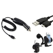 Insten® 326457 3-Piece Universal Car Charger Bundle For Samsung Galaxy Note 3/BlackBerry/LG/Motorola