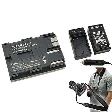Insten® 352873 4-Piece DV Battery Bundle For Canon BP-511/Canon BP-511/SLR/DSLR Camera