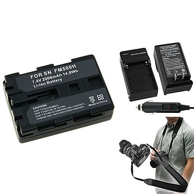 Insten® 352887 3-Piece DV Battery Bundle For Sony NP-FM500H/Alpha A850/Sony NP-FM30/NP-FM50