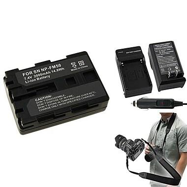 Insten® 352891 3-Piece DV Battery Bundle For Sony NP-FM50/NP-FM30/Sony NP-FM500H/SLR/DSLR Camera