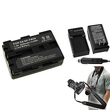 Insten® 352892 4-Piece DV Battery Bundle For Sony NP-FM50/NP-FM30/Sony NP-FM500H/SLR/DSLR Camera