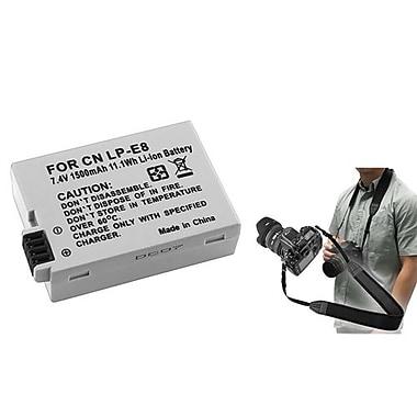 Insten® 352902 3-Piece DV Battery Bundle For EOS Rebel T2i