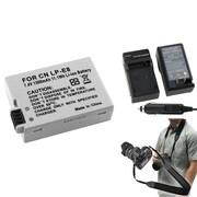 Insten® 352904 3-Piece DV Battery Bundle For EOS Rebel T2i/Canon LP-E8