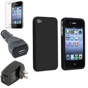 Insten® 354594 4-Piece iPhone Car Charger Bundle For Apple iPhone 4/4S