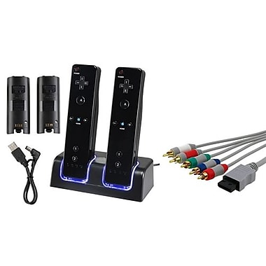 Insten® 359175 2-Piece Game Cable Bundle For Wii/Nintendo Wii/Wii U