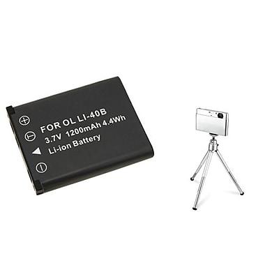 Insten® 361152 2-Piece DV Battery Bundle For Li-40B/Li-42B/Nikon EN-EL10/Fuji NP-45