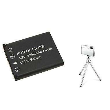 Insten® 361153 3-Piece DV Battery Bundle For Olympus Li-40B/Li-42B/Nikon EN-EL10/Fuji NP-45