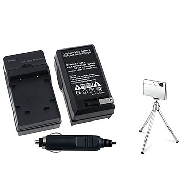 Insten® 361154 2-Piece DV Battery Charger Bundle For Olympus Li-40B/Nikon EN-EL10/Fuji NP-45
