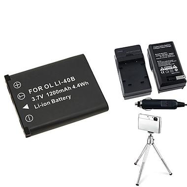 Insten® 361155 3-Piece DV Battery Bundle For Olympus Li-40B/Li-42B/Nikon EN-EL10/Fuji NP-45