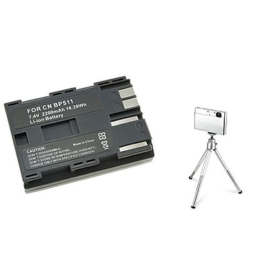 Insten® 361163 3-Piece DV Battery Bundle For Canon BP-511