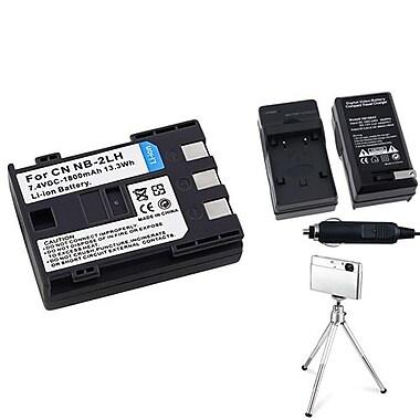 Insten® 361171 4-Piece DV Battery Bundle For Rebel XT/XTi/Canon NB-2L/BP-2L12/BP-2L14