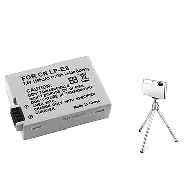 Insten® 361180 2-Piece DV Battery Bundle For EOS Rebel T2i