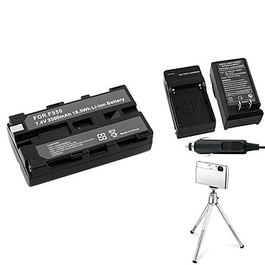 Insten® 361194 4-Piece DV Battery Bundle For Sony NP-F550/NP-F330/NP-F750/Sony NP-FM500H