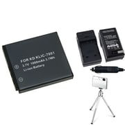 Insten® 361203 3-Piece DV Battery Bundle For EasyShare V550/V570/Kodak KLIC-7001